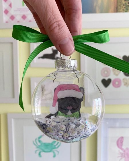 DIY pet photo Christmas ornaments 💗 http://liketk.it/31pdg #liketkit @liketoknow.it