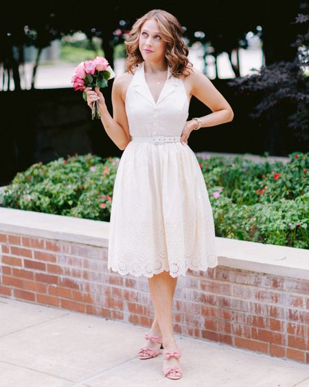 This outfit is giving me MAJOR Allie from The Notebook vibes- which is honestly all I want in life 💋 I'm sharing this super cute retro inspired dress & these darling little bow shoes #ontheblog that are both on SALE! The only thing better than a super cute outfit is a super cute outfit you got on sale- anyone else agree? . . . You can shop this whole look by heading to the link in my bio, and as always you can instantly shop all of my looks by following me on the LIKEtoKNOW.it app 🛍✨ http://liketk.it/2Dlo5 #liketkit @liketoknow.it #mymodcloth