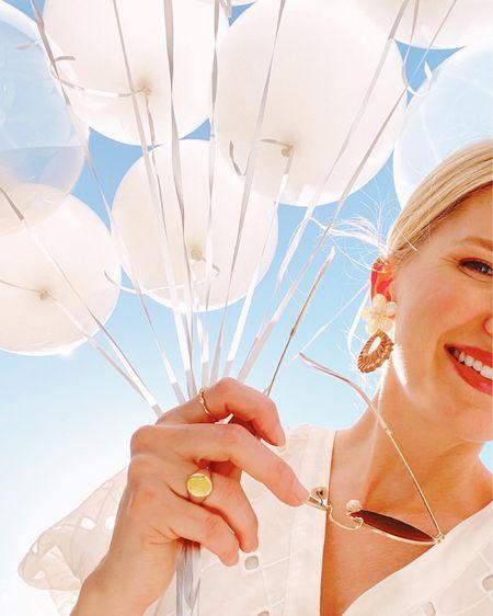 White puff sleeve dress and the best aviator sunglasses! http://liketk.it/3fDeq #liketkit @liketoknow.it