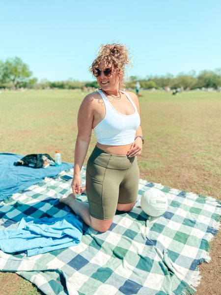 It's a beautiful Austin day at Zilker park!   My sports bra tank is back in stock and goes great with these biker shorts! All available through Amazon - Shop your screenshot of this pic with the LIKEtoKNOW.it shopping app @liketoknow.it http://liketk.it/3cCFP #liketkit #LTKcurves #LTKunder50 #LTKfit