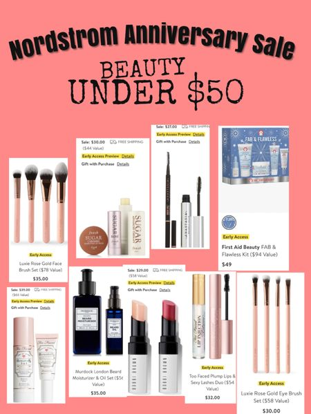 Nordstrom Anniversary Sale beauty must haves. Under $50. Nsale beauty finds, beauty under $50. Affordable beauty products. Makeup brushes on sale. Sale alert.   @liketoknow.it.home @liketoknow.it.family #LTKbeauty #LTKsalealert #LTKunder100 @liketoknow.it #liketkit http://liketk.it/2TOVO