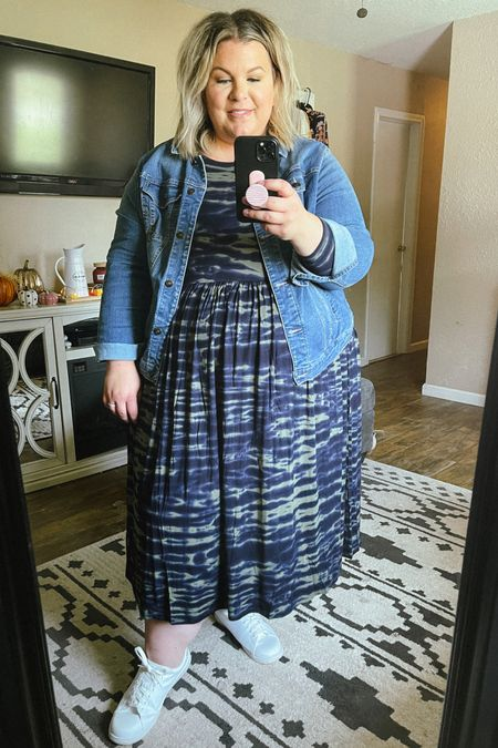 This plus size midi dress comes in tons of colors, is so soft and stretchy, and you can size down! This makes a perfect plus size teacher outfit or plus size work outfit, and is a $20 Walmart find!   #LTKunder50 #LTKcurves #LTKstyletip