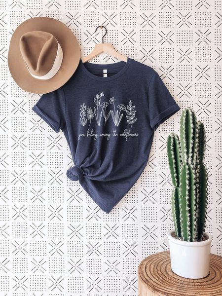 You Belong Among the Wildflowers Tee and Rancher Hat - perfect summer or fall outfit paired with denim!    #LTKstyletip #LTKunder100