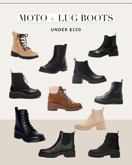 Moto and lug boots for fall #fallboots   #LTKSeasonal