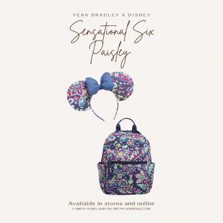 Vera Bradley bag. Mickey ears. Minnie ears. Designer Mickey ears.   #LTKunder100 #LTKunder50 #LTKtravel