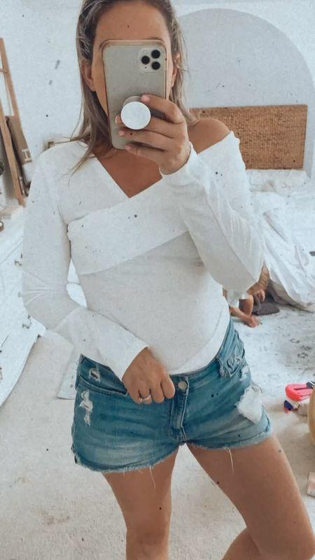 White top, off the shoulder top, amazon finds, amazon must haves, amazon clothes #amazon #amazonmusthaves   #LTKstyletip #LTKbacktoschool #LTKunder50