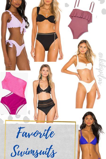 Swimsuits // swimsuit with cutouts // bikini // high waisted bikini // beach vacation // beach travel // bachelorette // white swimsuit // bride   #LTKswim #LTKSeasonal #LTKtravel