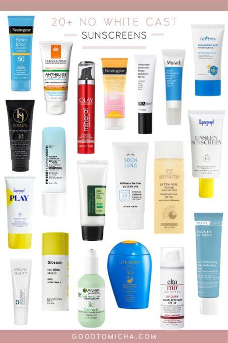 20+ no white sunscreens for this summer! I am loving these options. http://liketk.it/3hUYi  #liketkit @liketoknow.it #LTKtravel #LTKswim #LTKbeauty #sunscreen