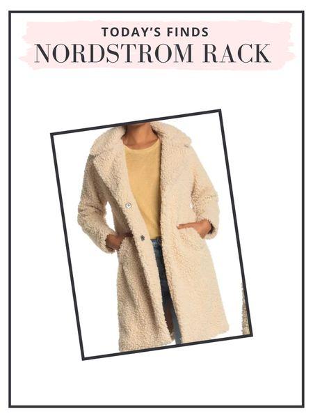 Nordstrom Rack Finds: teddy coat (and it comes in pink!)  #LTKsalealert #LTKunder100