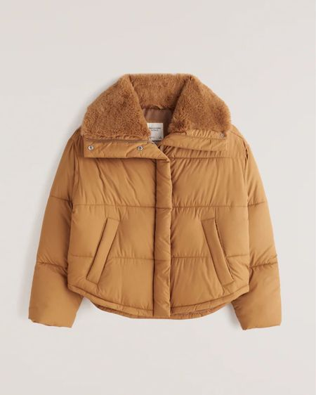 Puffer jacket with fur lining from Abercrombie