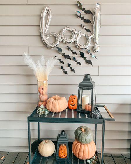 Halloween decor. Halloween balloons. Bats. Bat decor. Halloween home decor. Bat cart. Fall decor. Autumn decor. Black lanterns. Pumpkin decor. Boo balloon.   #LTKSeasonal #LTKHoliday #LTKhome