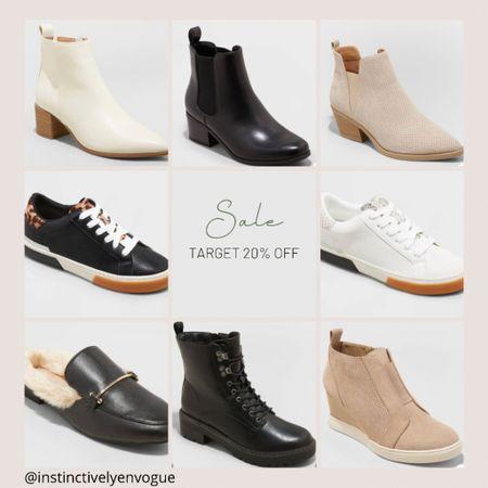 Cute target shoes 20% off, Chelsea boots, sneakers, mules, booties. Sale ends Tuesday   #LTKunder50 #LTKshoecrush #LTKsalealert