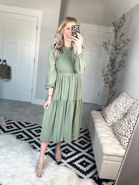 Stunning green dress! Wearing a m    #LTKsalealert #LTKstyletip #LTKunder50