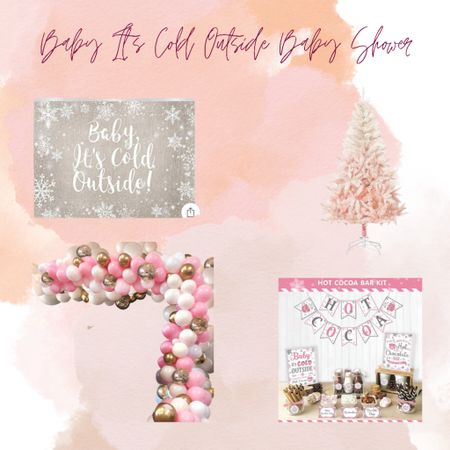 Baby it's cold outside baby shower ideas!       #LTKbaby