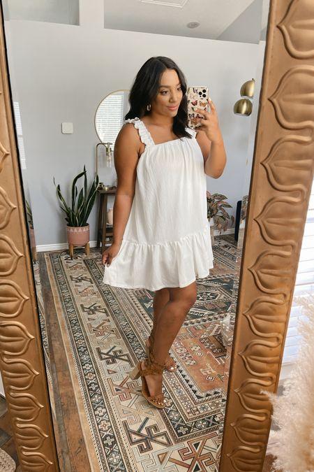Red Dress try on! Size L dress! http://liketk.it/3k25R  #liketkit @liketoknow.it #LTKcurves #LTKwedding #LTKunder50 little white dress, bride