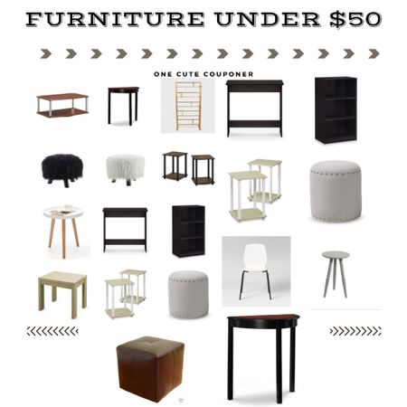 Furniture under $50. Ottomans, tables, and more. http://liketk.it/3iV46 #liketkit @liketoknow.it #LTKunder50 #LTKsalealert #LTKhome