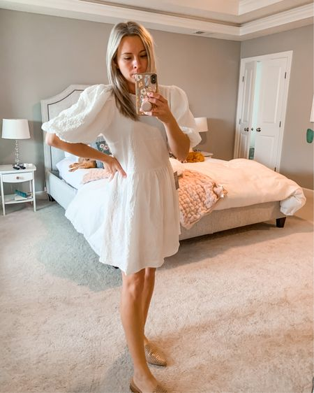 Cute mini white dress. Super soft and flexible. Please note this dress is see through but would be totally fine if you wear a nude slip! http://liketk.it/2ZHx2 #liketkit @liketoknow.it #LTKunder50 #LTKbump #LTKstyletip