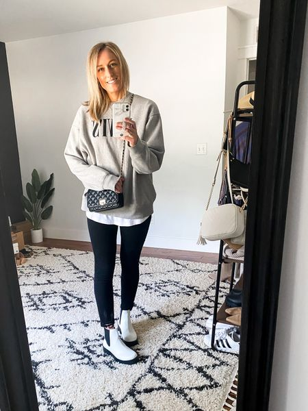 I'm obsessed with these boots and have found so many more ways to wear them than I originally thought! Love them with a sweatshirt + jeans bc that's 100% what I wear every day!  #LTKshoecrush #LTKstyletip #LTKunder100