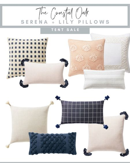 Serena & Lily, tent sale, pillow sale, coastal, decor, home decor, throw pillows, bedroom, living room    #LTKhome #LTKunder100 #LTKstyletip