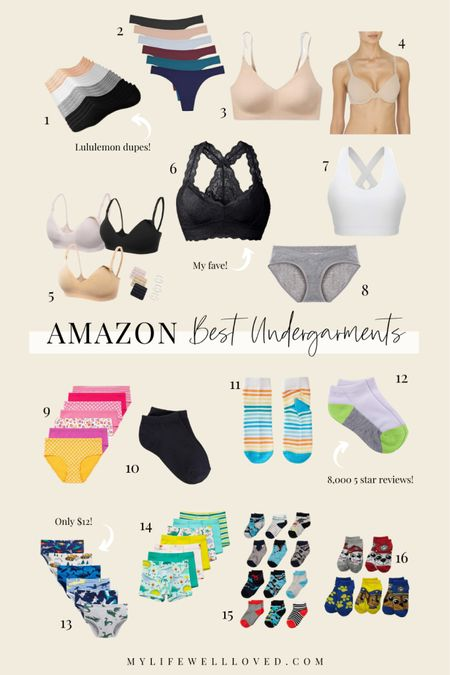 Amazon Undergarments for the family! Sharing the best bras, undies, and socks for moms and kids! http://liketk.it/3hhK6 #liketkit @liketoknow.it #LTKDay #LTKfamily #LTKkids