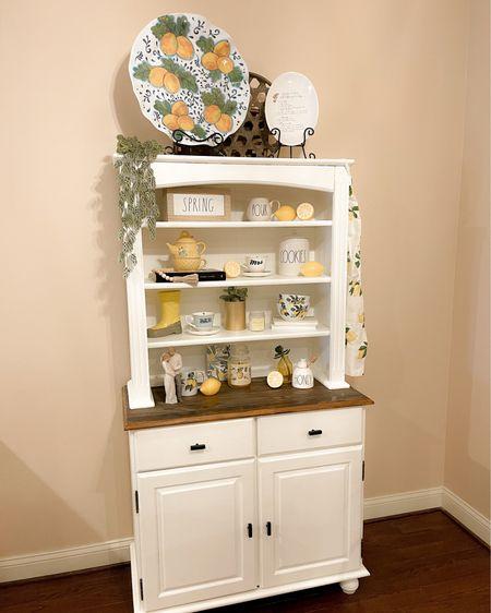 Kitchen hutch summer decor http://liketk.it/3e9HB #liketkit #LTKhome #LTKfamily #LTKunder50 @liketoknow.it