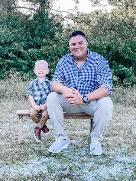 My boys looking dapper for fall family pictures! Who wore it better?!   #LTKmens #LTKshoecrush #LTKkids