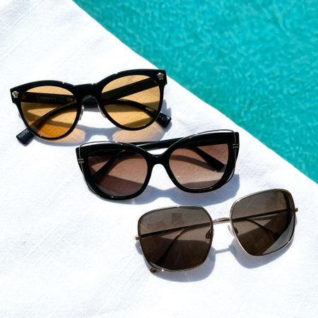 Sunny weather calls for sunglasses 😎 loving these on trend pairs to wear now through the fall season ❤️❤️❤️  #LTKstyletip #LTKtravel #LTKswim