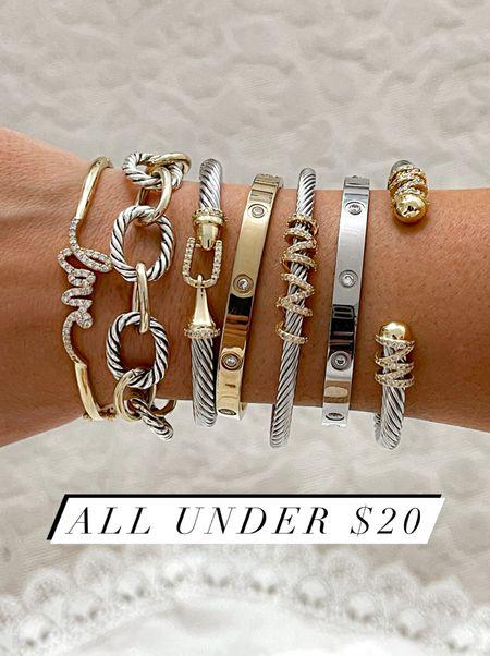 Bracelets on sale under $20  #jewelry #laurabeverlin  #LTKsalealert #LTKunder50 #LTKunder100