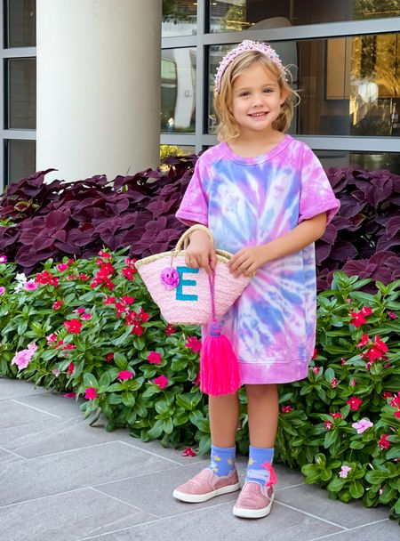 My toddler girl has grown so much, so we bought her some new fall clothes this weekend. How cute is this girls tie dye sweatshirt dress?! It's under $30. So cute! And this is her favorite headband, and it's only $16.   #LTKkids #LTKunder50 #LTKSeasonal