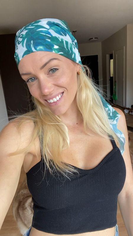 Scarf top, tube top or head wrap.   #LTKstyletip #LTKunder50 #LTKswim