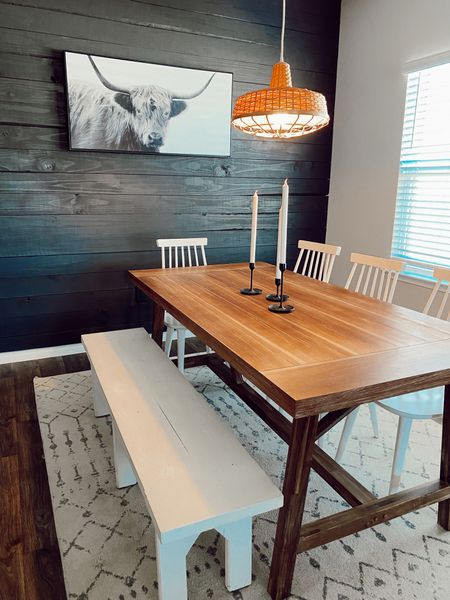 Our dinning area is my literal dream of a dinning room. I'm so happy with how it has turned out and just want to sit and stare at it all day LOL   #LTKhome #LTKunder50 #LTKfamily