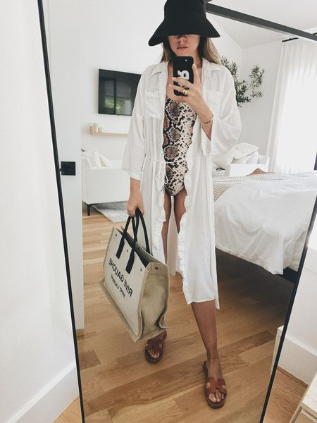 One piece swimsuits with a little more coverage and the coverup I most often. Several #sale items rounded up! http://liketk.it/2Pjyo #liketkit @liketoknow.it #LTKsalealert #ltksummer #swim #onepiece