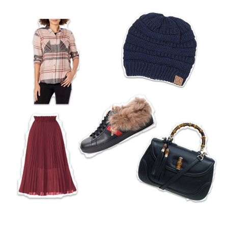 Cutest Valentine's Day look!  I #LTKstyletip love styling Amazon finds with designer pieces. Plaid top, pleaded skirt and beanie are all Amazon Fashion, paired with Gucci shoes and purse.    http://liketk.it/36FGb #liketkit @liketoknow.it #LTKSeasonal #LTKVDay #vdaylook #vdaystyle #valentinesday #gucci #amazonfashion #amazonfinds #plaid #pleaded