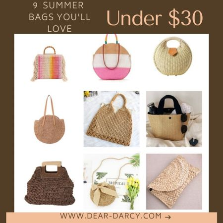 9 Summer Bags you'll LOVE Under $30🌸🌸🌸 . . Make that Summer Dress POP… the perfect Summer accessories and in styles from $12-30 . . I may or may not own ALL of these😂🤦🏼♀️ . .   You can instantly shop my looks by following me on the LIKEtoKNOW.it shopping app Shop my daily looks by following me on the LIKEtoKNOW.it shopping app http://liketk.it/3gPnH #liketkit @liketoknow.it #LTKsalealert #LTKunder50 #LTKstyletip