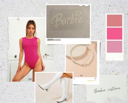 Barbie iron on is from Etsy!!   Halloween costumes, Halloween 2021, Halloween look, Halloween outfits, fall ootd, Halloween ootd, fall vibes   #LTKHoliday #LTKSeasonal #LTKfit