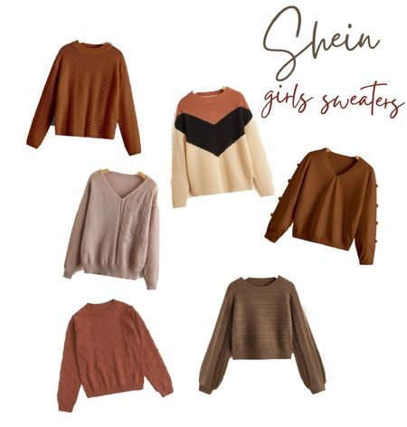 Girls fall sweaters, neutral sweaters for girls, girls fall wardrobe, SHEIN kids finds, textured sweaters, shein kids.     #LTKfamily #LTKkids #LTKSeasonal