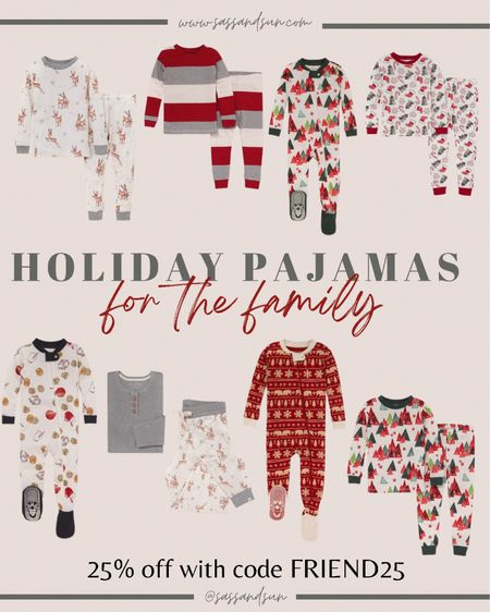 Holiday pajamas for the whole fam 25% off with code FRIEND25 - all under $25   #LTKGiftGuide #LTKHoliday #LTKfamily