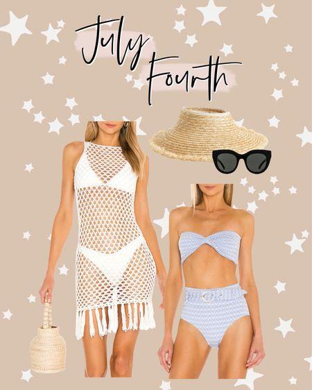 July Fourth outfit ideas 🇺🇸❤️💙 http://liketk.it/3igMQ #liketkit @liketoknow.it #LTKunder50 #LTKswim #LTKsalealert