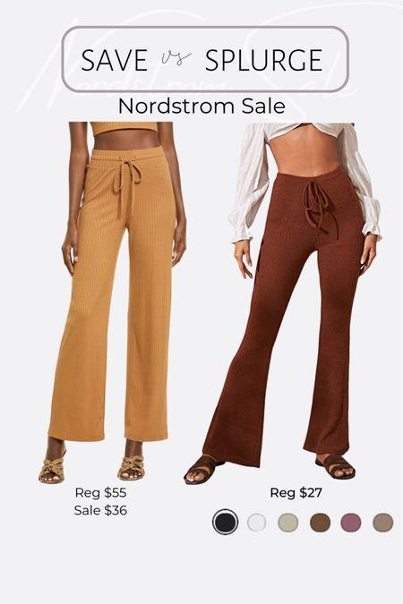 Nordstrom NSale favorite picks and dupes lounge knit rib pants http://liketk.it/3jRII #liketkit @liketoknow.it #LTKunder50 #LTKsalealert #LTKhome