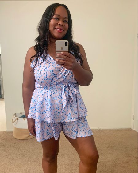 I hope you all are enjoying this Memorial Day weekend with you family and friends.  So thankful for all of the soldiers who have risk there lives for our freedom.  If your interested in this romper its super comfortable and comes with a matching belt.  I'm wearing the size XL.   How cute are these colors  @liketoknow.it #liketkit #LTKcurves #LTKunder100 #LTKunder50  #rompers #plussizeromper Shop my daily looks by following me on the LIKEtoKNOW.it shopping app http://liketk.it/3gvJo