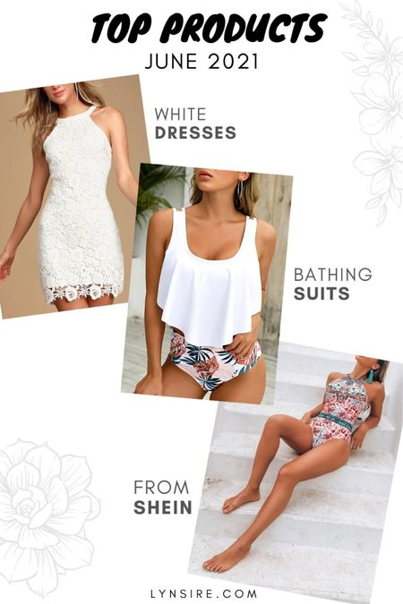 Top 3 June products! This white dress and summer bathing suits. Still in stock and available in different sizes and colors.   #LTKswim #LTKwedding #LTKtravel