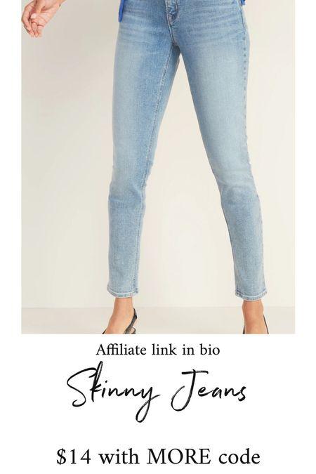 Skinny jeans #thedailydupes  #LTKunder50 #LTKsalealert