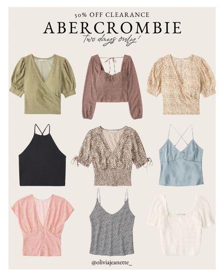 Abercrombie clearance tops! 50% off two days only 🙌🏼  #LTKsalealert #LTKunder100 #LTKunder50