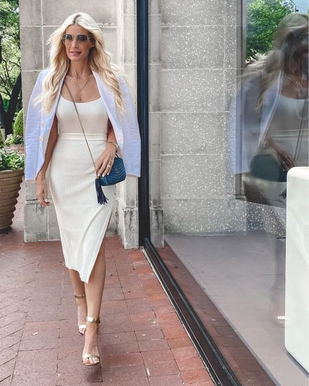 All white looks are always a good idea! I love this slimming ribbed midi skirt and cami combo! They're super comfortable and can be worn together or seperate which I love! Both pieces run tts, I'm wearing an  XS in both the skirt and cami. @liketoknow.it #liketkit http://liketk.it/3ha90 #LTKstyletip #LTKshoecrush #LTKunder100 Shop my daily looks by following me on the LIKEtoKNOW.it shopping app