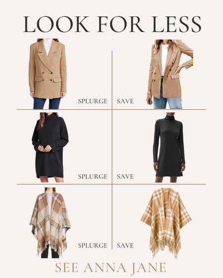 Get The Look For Less On Fall Style 🙌🏼  #getthelookforless #savevssplurge #savevsspend #fallfashion #fallstyle #clothing  #LTKSeasonal #LTKstyletip #LTKunder100