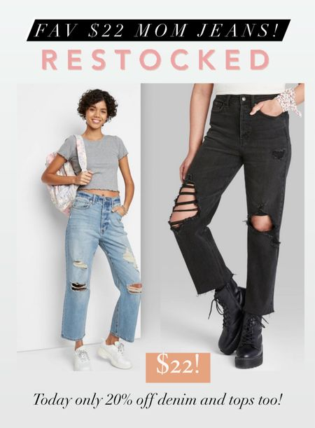 My fav $22 target jeans were restocked and today you can save 20% off denim and tops when you use just apply the offer through target circle!   #LTKSale #LTKstyletip #LTKsalealert