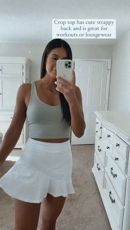 Activewear workout outfit from Amazon fashion and under $30 (this tennis skirt is a fave!)   #LTKsalealert #LTKunder50 #LTKfit