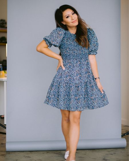 The $25 dress you didn't know you needed. It has the cutest ruffle puff sleeves and comes in a few colors. The blue one I have one currently has all sizes available! Swipe to see how I style it for the fall. Great transition piece!   Linked up all the pieces here! http://liketk.it/2WeyH #liketkit @liketoknow.it #LTKunder50 #LTKsalealert #LTKstyletip #fallfashion  You can instantly shop all of my looks by following me on the LIKEtoKNOW.it shopping app
