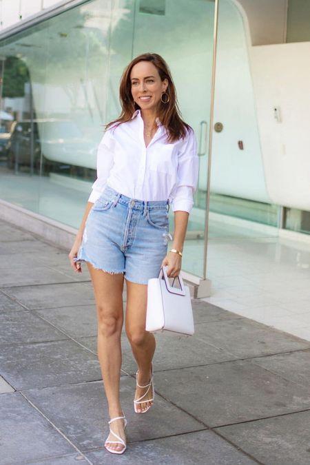 My favorite denim shorts for summer #shorts #denimshorts #summerstyle