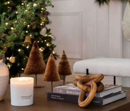 Neutral holiday ideas from Studio McGee at Target. Love the bottle brush table trees.  Holiday home prep   #LTKHoliday #LTKhome #LTKSeasonal